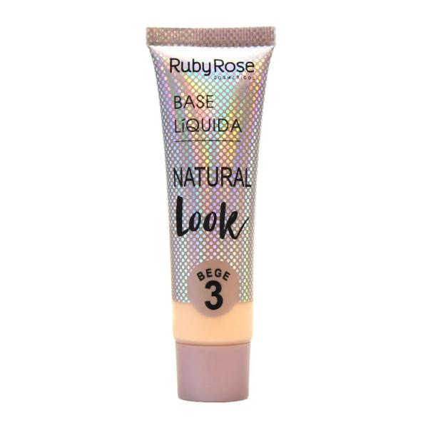 Base Líquida Natural Look Bege HB-8051 Ruby Rose - Cor B03