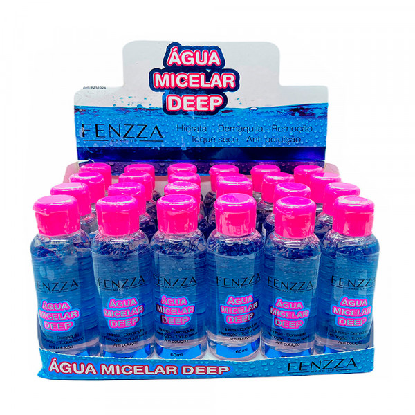 Água Micelar Deep 60ml Fenzza FZ51024 - Display com 24 unidades