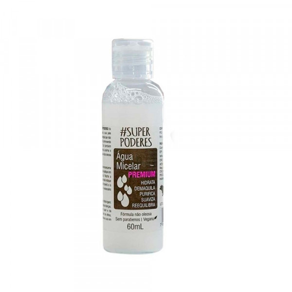 Água Micelar Premium 60ml Super Poderes