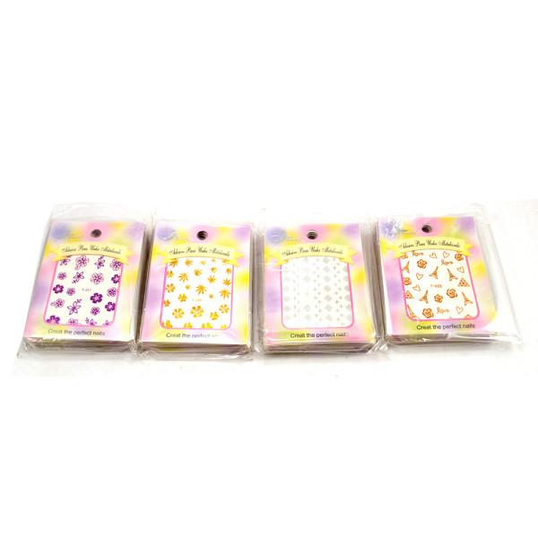 Adesivos para Unhas Miss Frandy PM16-0163 - Pacote com 12 Cartelas Sortidas