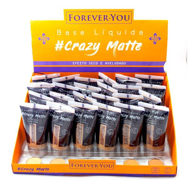 Base Líquida Matte Crazy Forever You FY010 - Display com 24 unidades