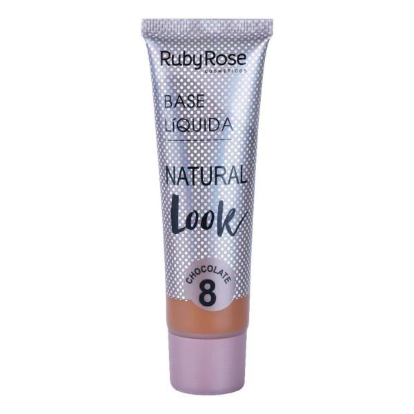 Base Líquida Natural Look Chocolate HB-8051 Ruby Rose - Cor C08