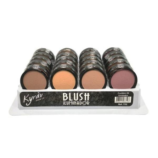 Blush Iluminador Facial Kyràv - Display com 24 unidades