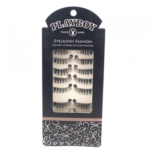 Kit com 10 Pares Cílios Postiços Eyelashes Fashion Playboy HB94522