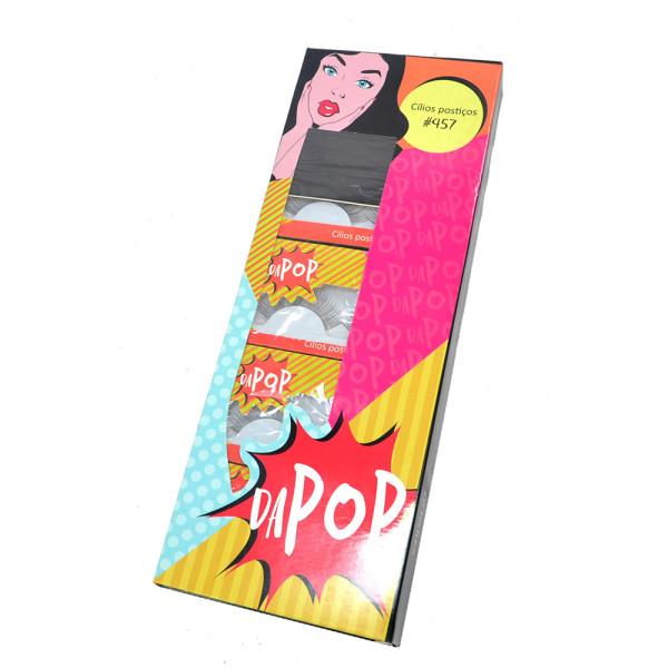 Cílios Postiços Dapop HB97457 - Box com 10 pares