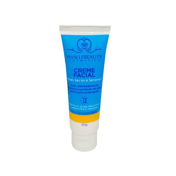 Creme Facial Peles Secas e Sensíveis Phalle Beauty PH0033