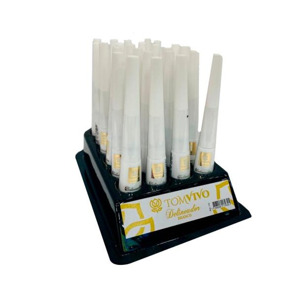 Delineador Líquido Branco Tom Vivo - Display com 24 unidades