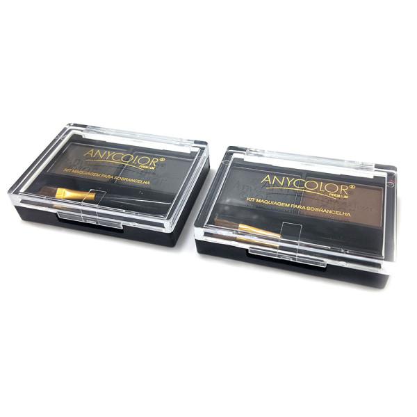 Duo de Sombra para Sobrancelha Any Color 1410-3 - Kit com 2 unidades Cores Sortidas