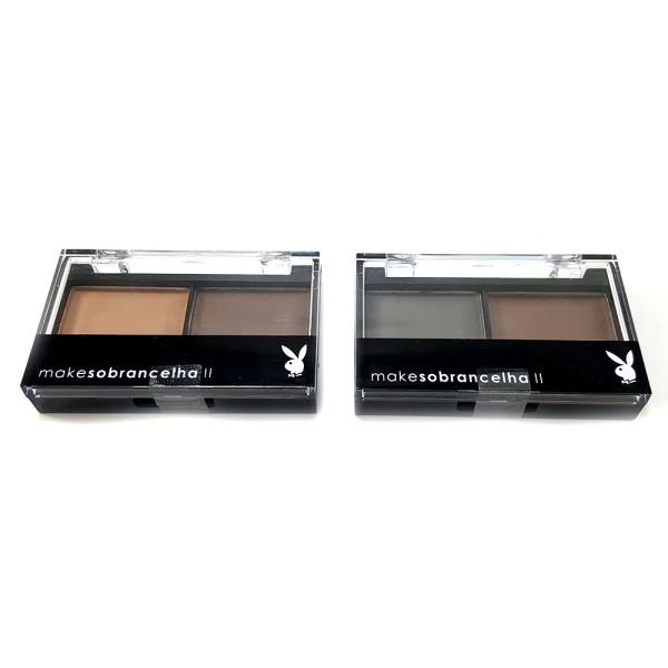 Duo de Sombra para Sobrancelha Playboy HB96962 - Kit com 2 unidades Cores Sortidas