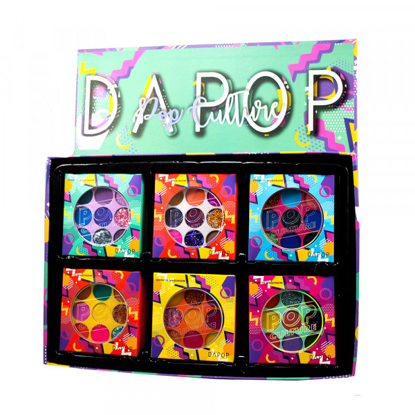 Paleta de Sombras Pop Culture Dapop HB100163 - Display com 24 unidades