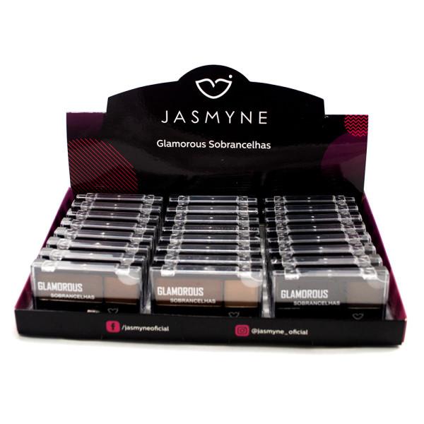 Duo de Sobrancelha Glamorous Jasmyne JS0207 - Display com 24 unidades em Cores Sortidas