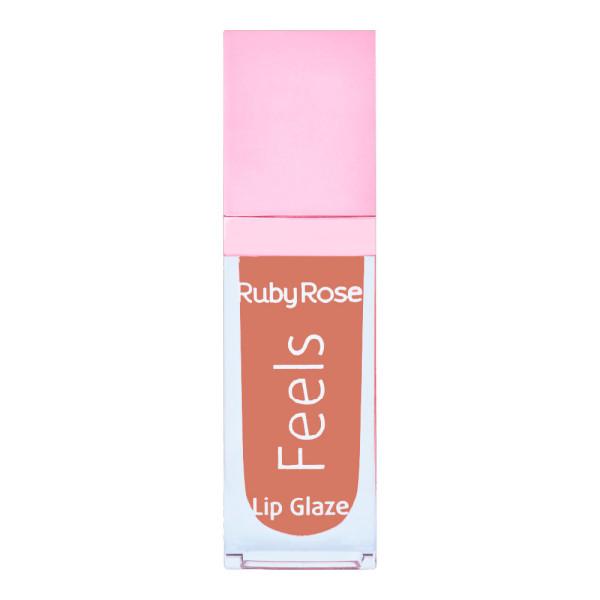 Gloss Labial Lip Glaze Feels Ruby Rose HB-8227 Cor 077