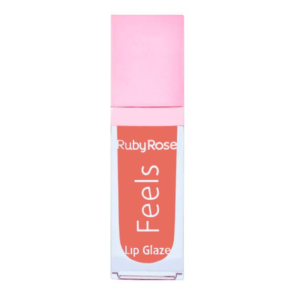 Gloss Labial Lip Glaze Feels Ruby Rose HB-8227 Cor 079