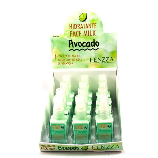Hidratante Face Milk Avocado Fenzza FZ37046 - Display com 12 unidades