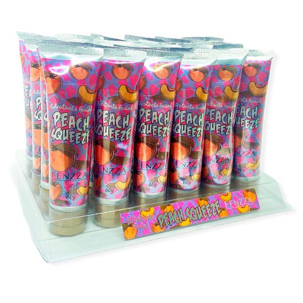 Hidratante Facial Peach Squeeze Fenzza FZ37042 - Display com 24 unidades