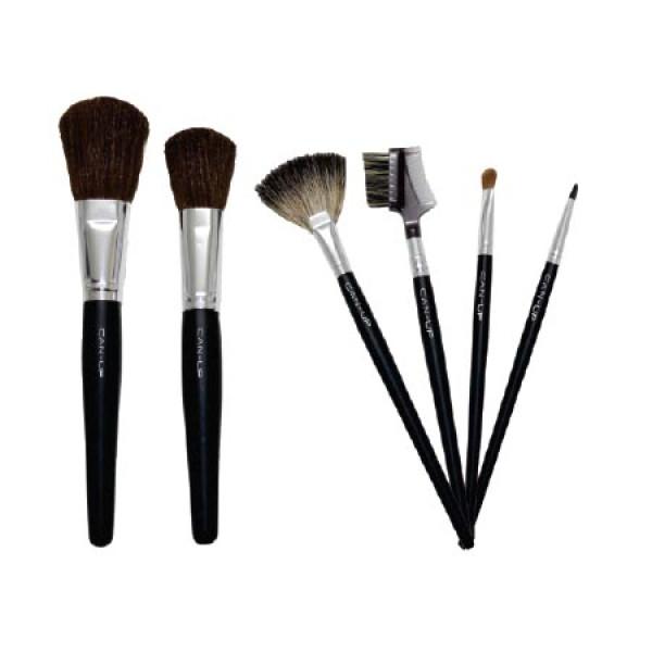 Kit com 6 Pincéis de Maquiagem Can-Up Cosmetics
