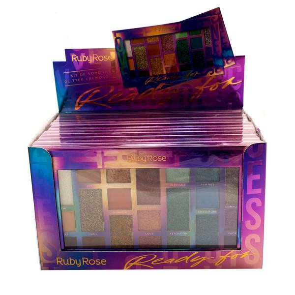 Paleta de Sombras Ready For Ruby Rose HB-1059 - Display com 12 unidades