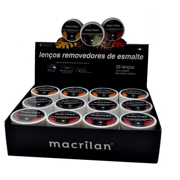 Lenço Removedor de Esmalte Macrilan RE-01 - Display com 36 unidades