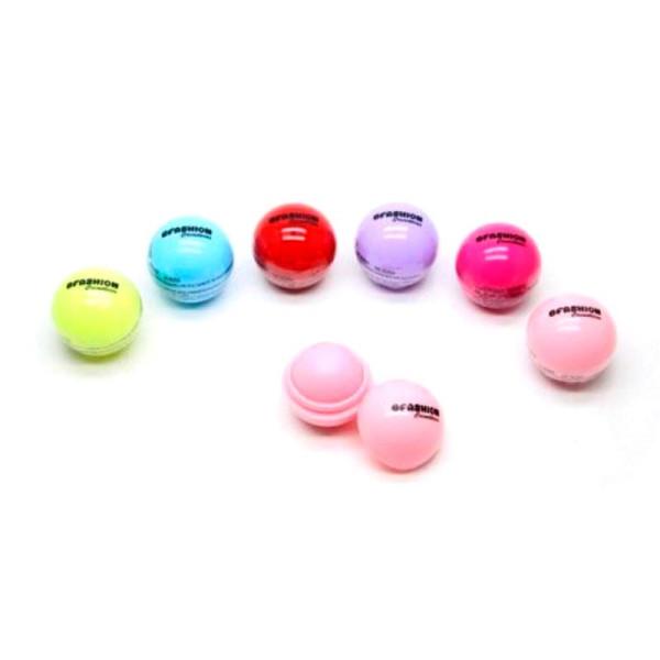 Lip Balm Hidratante Labial Ball BFashion NR50008 - Kit com 6 unidades Sortidas