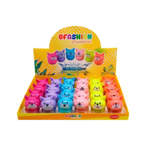 Lip Balm Hidratante Labial Cachorrinho BFashion NR50007 - Display com 24 unidades