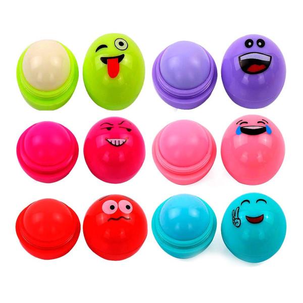 Lip Balm Hidratante Labial Emoji BFashion NR50005 - Kit com 6 unidades Sortidas