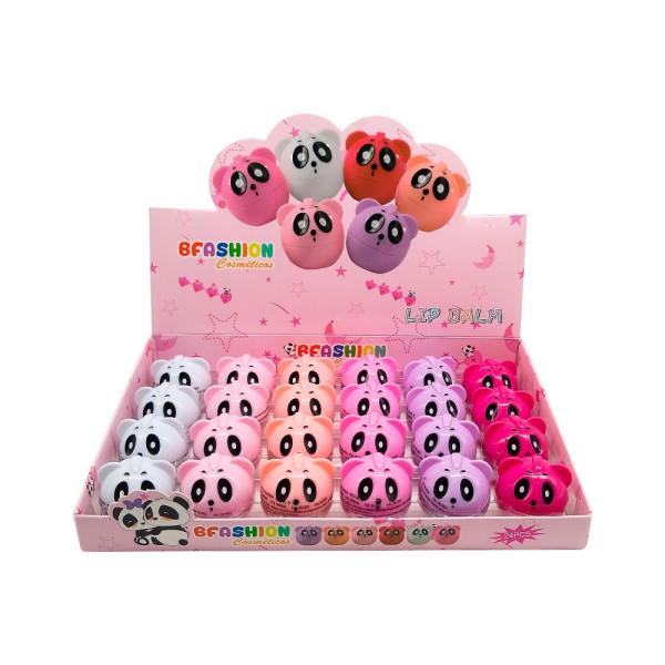 Lip Balm Hidratante Labial Panda BFashion NR50003 - Display com 24 unidades