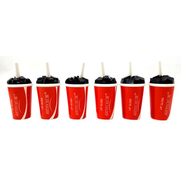 Lip Gloss Any Color AC1809 - Kit com 6 unidades Cores Sortidas