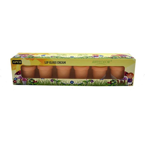 Lip Gloss Cream Any Color AC1811 - Box com 6 unidades Cores Sortidas
