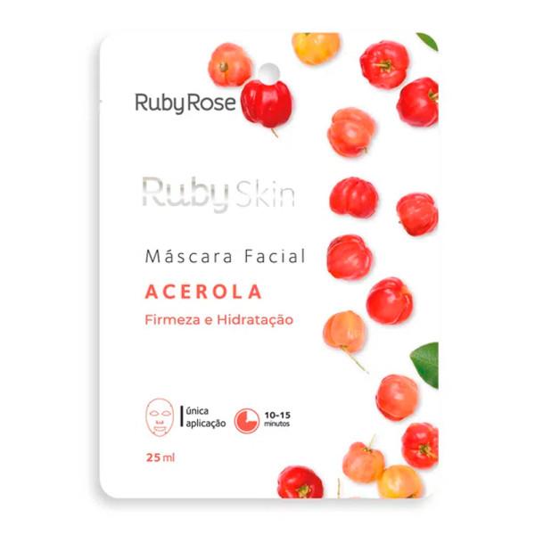 Máscara Facial de Tecido Acerola Skin Ruby Rose HB-701