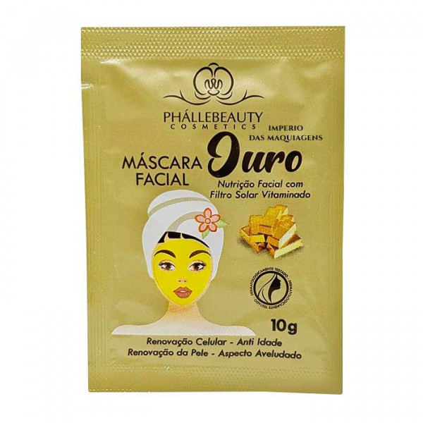Máscara Facial Ouro Phállebeauty PH016