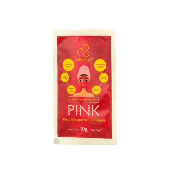 Máscara Facial Peel Off Pink Rosa Mosqueta e Colágeno Belle Angel I017