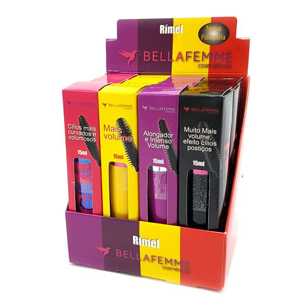 Rimel Máscara para Cílios 4D Bella Femme BF10009A - Display c/ 12 unidades