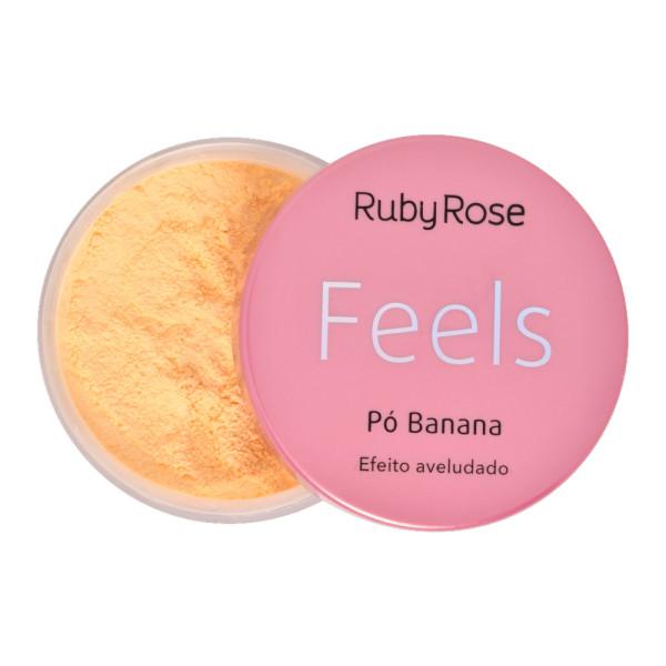 Pó Banana Efeito Aveludado Feels Ruby Rose HB-850