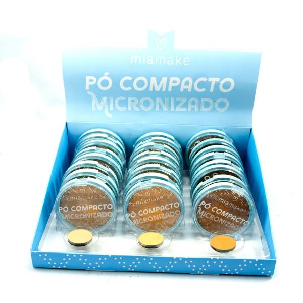 Pó Compacto Micronizado Cores Médias Mia Make 245 - Display com 24 unidades
