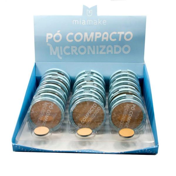 Pó Compacto Micronizado Cores Claras Mia Make 244 - Display com 24 unidades