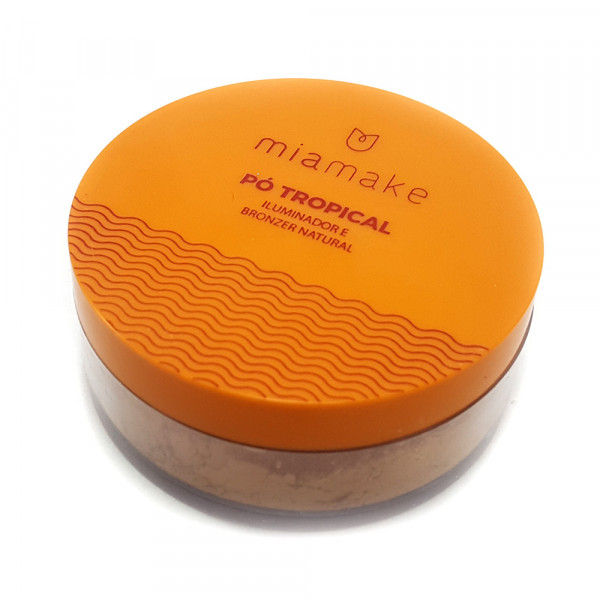 Pó Tropical Iluminador e Bronzer Natural Mia Make