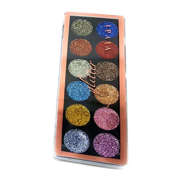 Paleta de Sombra Glitter 12 Cores Vivai 2172-4