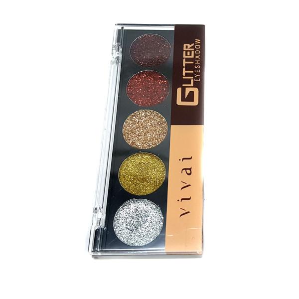 Paleta de Glitter Eyeshadow 5 Cores Vivai 2187-2