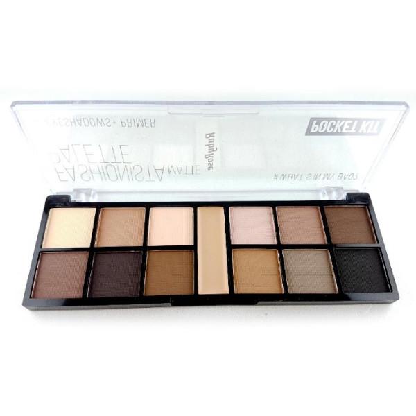 Paleta de Sombras + Primer Pocket Fashionista Matte Ruby Rose HB-9948
