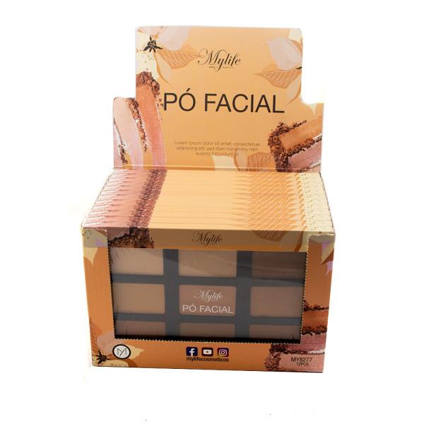 Paleta de Pó Facial Mylife MY8277 - Display com 12 unidades