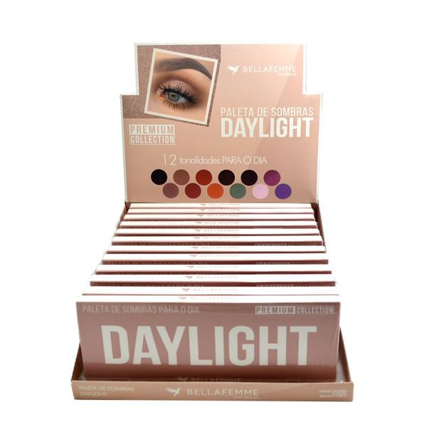 Paleta de Sombras Daylight Premium Collection Bella Femme BF10064 - Display com 12 unidades