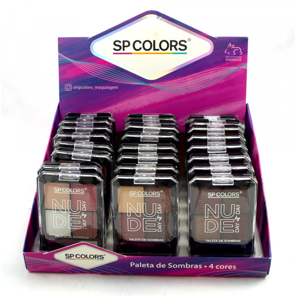Paleta de Sombras - Nude Day by Day - SP Colors - B