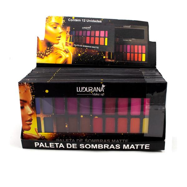 Paleta de Sombras 20 Cores Matte Ludurana B00048 - Display com 12 unidades