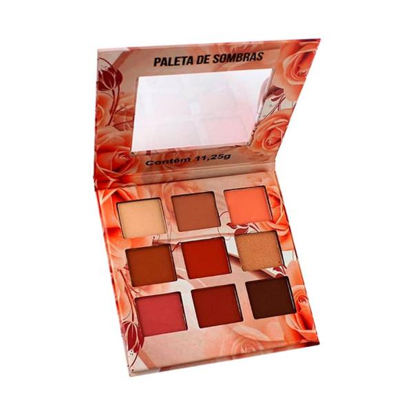 Paleta de Sombras Nuances 9 Cores Nude Ludurana - B00006
