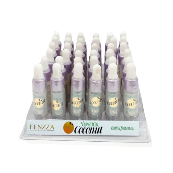 Sérum Facial Coconut Hidratação Intensa Fenzza FZ58005 - Display com 36 unidades