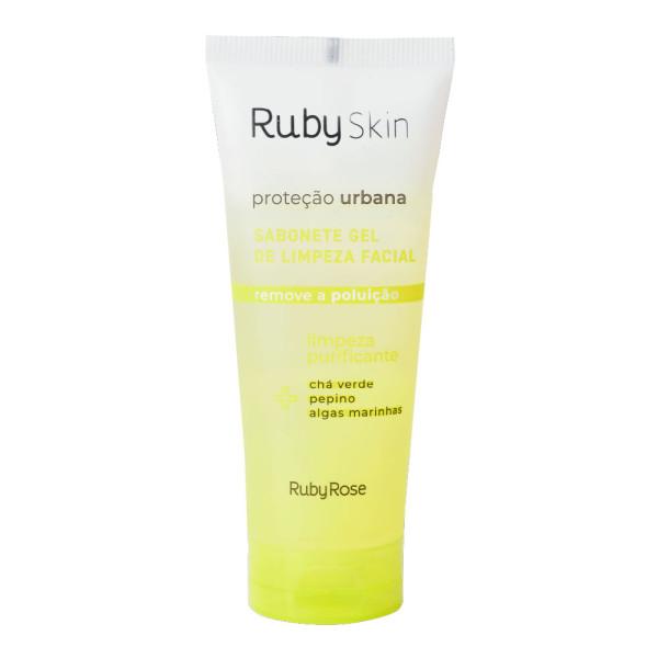 Sabonete Gel de Limpeza Facial Proteção Urbana Ruby Skin Ruby Rose HB-326