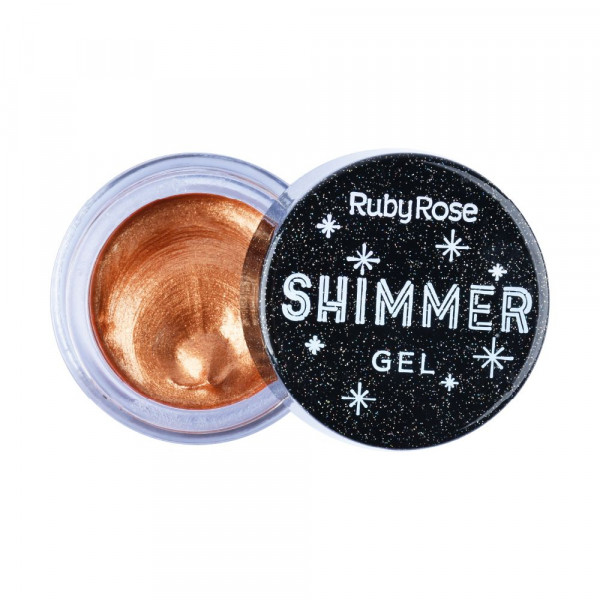 Iluminador Shimmer Gel Shine Ruby Rose HB-8404 - Bronze