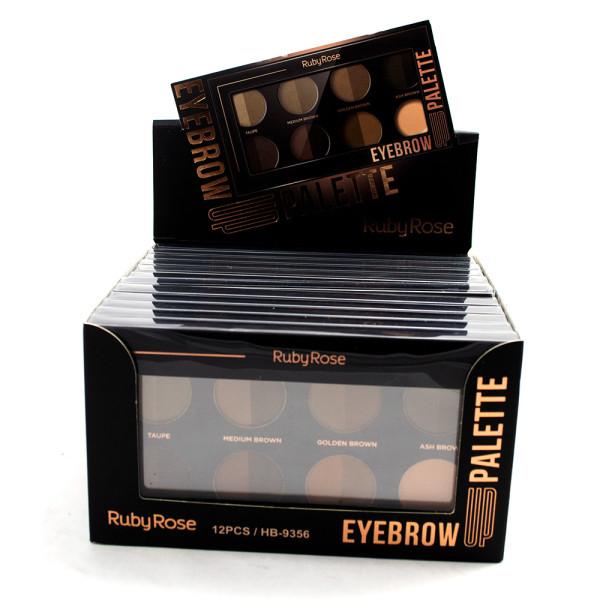 Paleta para Sobrancelha Eyebrow Up Palette Ruby Rose HB-9356 - Display com 12 unidades