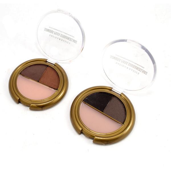 Kit de Sombras para Sobrancelha Safira - Kit com 2 unidades em Cores Sortidas