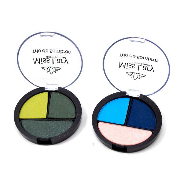 Trio de Sombras Colors Miss Lary ML-902 - Kit com 2 unidades em Cores Sortidas